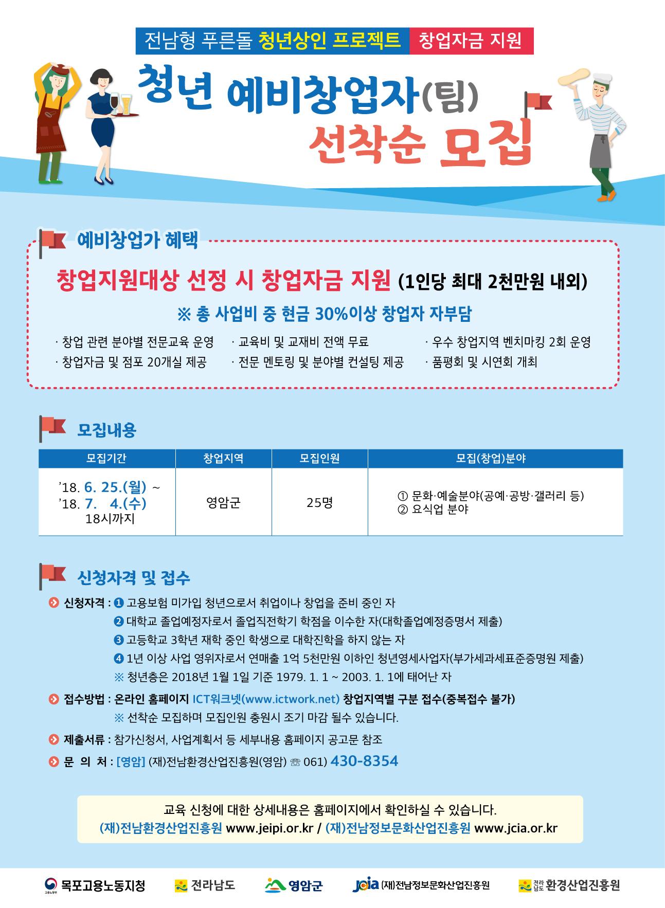 「2018전남형푸른돌청년상인프로젝트」교육생소상공인추가모집74